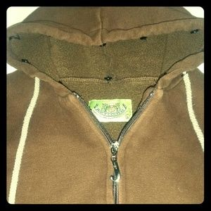 Juicy Couture thick brown jacket coat hood…